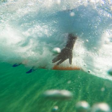 An example of Wollongong beach and surf images from Greg Fisher Photography